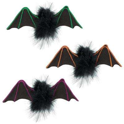 3 in. x 7 in. Halloween Little Bat Hanging Decorations (3-Count, 2-Pack)