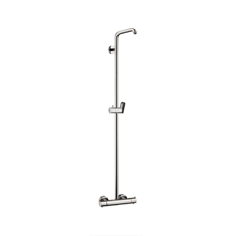 hansgrohe croma 220 shower pipe in brushed nickel 27185821. Black Bedroom Furniture Sets. Home Design Ideas