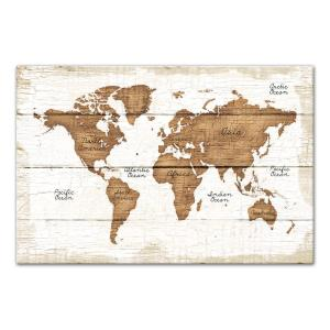 Designer stencils large world map wall stencil 3749a 10mil the distressed wood world map printed canvas wall art gumiabroncs Images