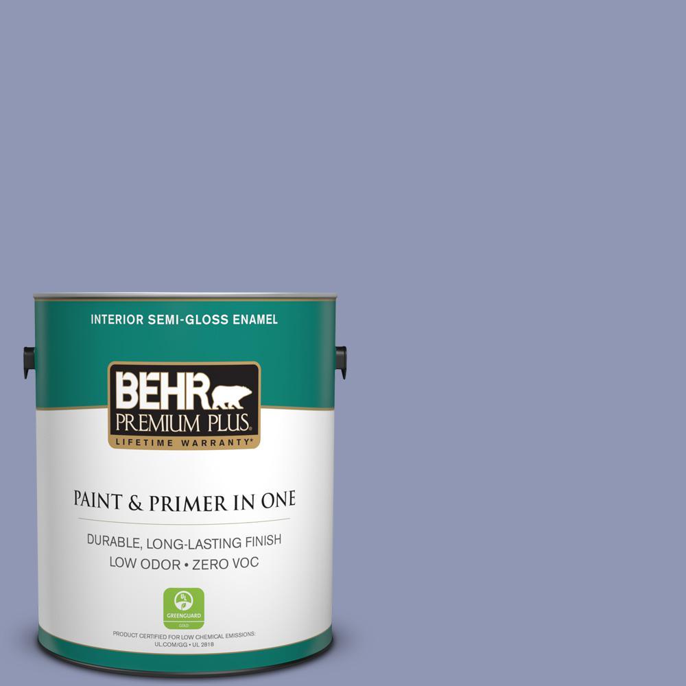 BEHR Premium Plus 1-gal. #S540-4 Vintage Ribbon Semi-Gloss Enamel Interior Paint