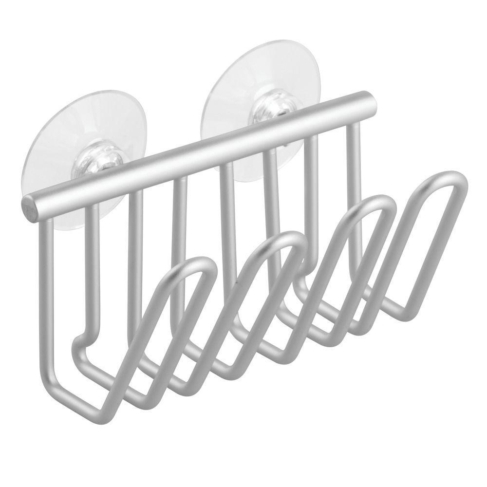 Metro Aluminum Suction Sponge Cradle in Silver
