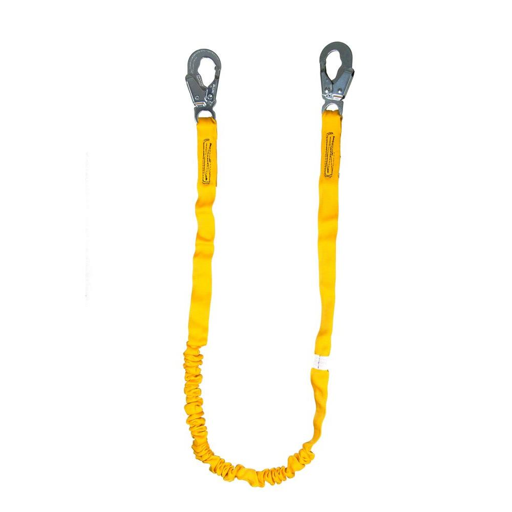 Guardian Fall Protection 6 ft. Internal Shock Lanyard with Single Leg and Snap Hook The Guardian Fall Protection Internal Shock Lanyard has a polyester core specifically designed to reduce the impact forces resulting from a fall. Because the shock absorption is built directly into the lanyard there is no need for an external shock absorber, making the Internal Shock Lanyard a particularly lightweight option. This lanyard does not stretch, except if exposed to high levels of force, and is available in single and double leg models.