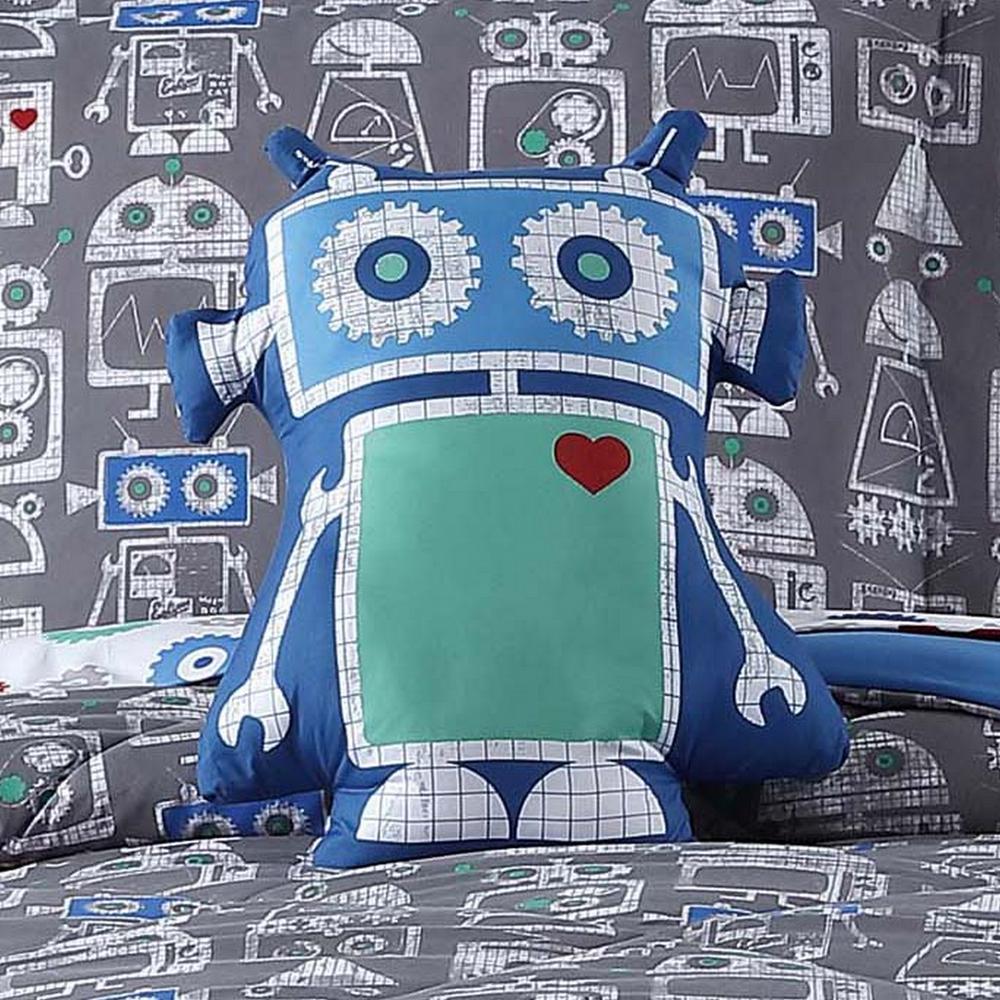 Kids Roboto Printed Pillow