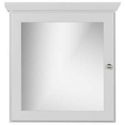 24 in. W x 27 in. H x 6.5 in. D Single Door Surface-Mount Medicine Cabinet Rounded/Mirror in Dewy Morning