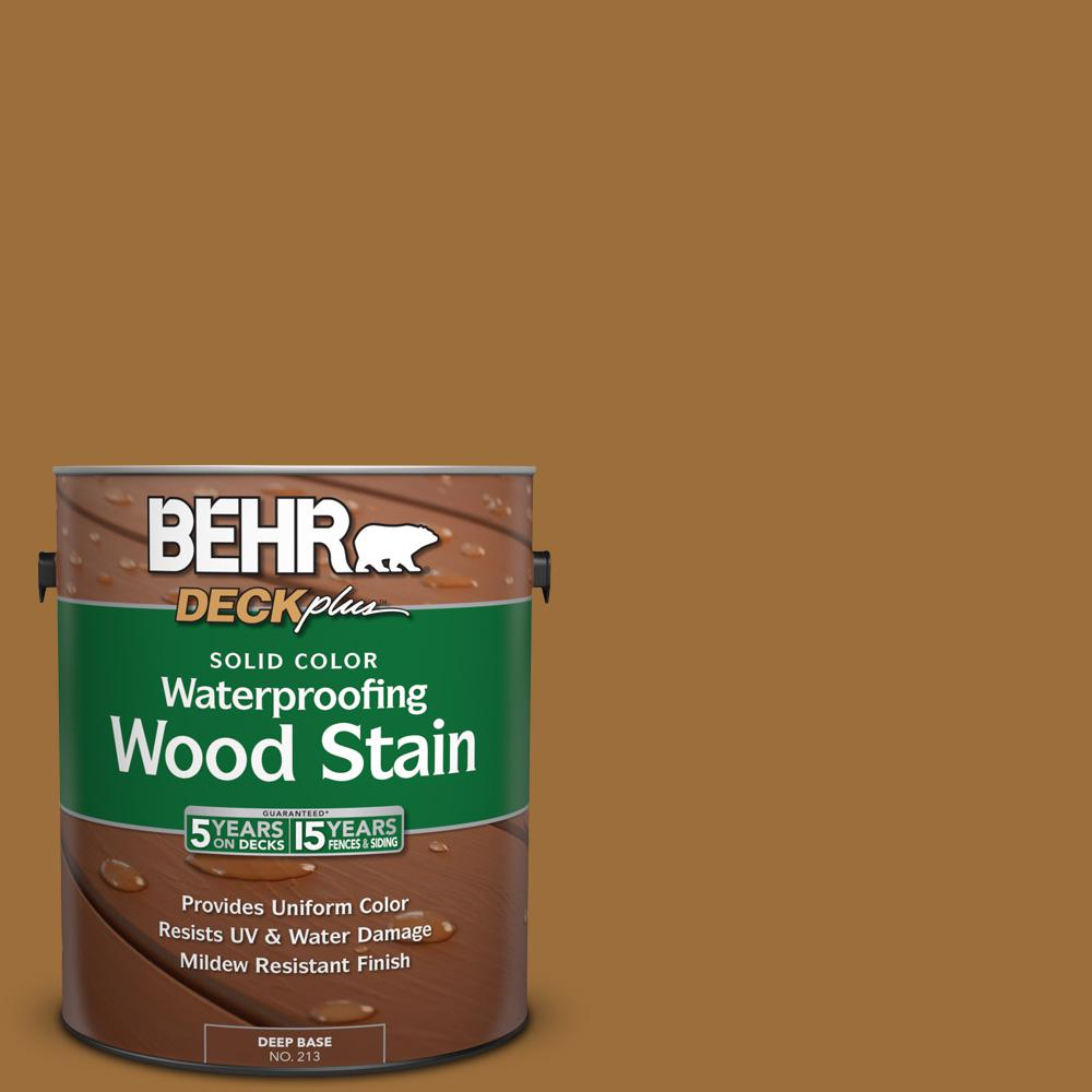 BEHR DECKplus 1 gal. #SC-146 Cedar Solid Color Waterproofing Wood Stain