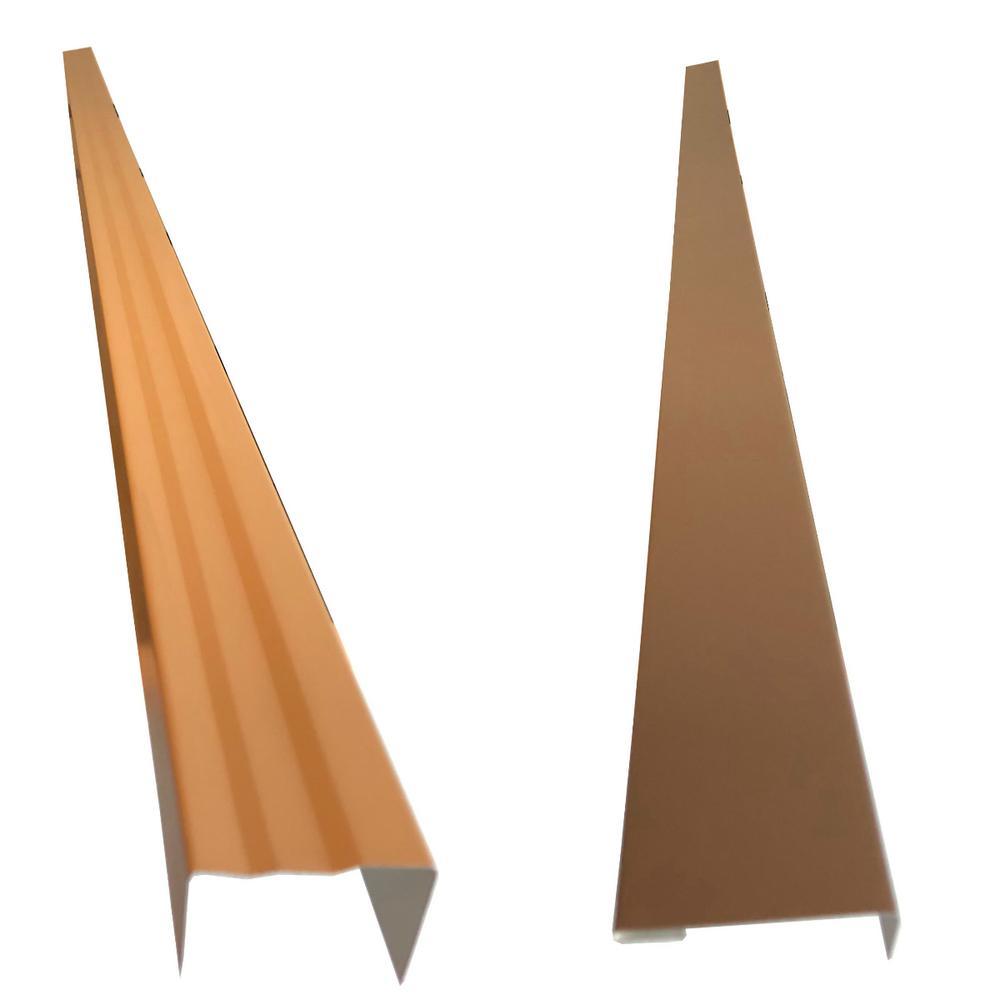 2.5 in. x 2.25 in. x 85 in. Aluminum Metal Brickmold and Jamb Door Trim Cover Kit-36 in. Door w/Siding, Pebblestone Clay