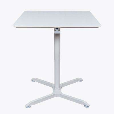 36 in. Pneumatic Height Adjustable Square Cafe Table