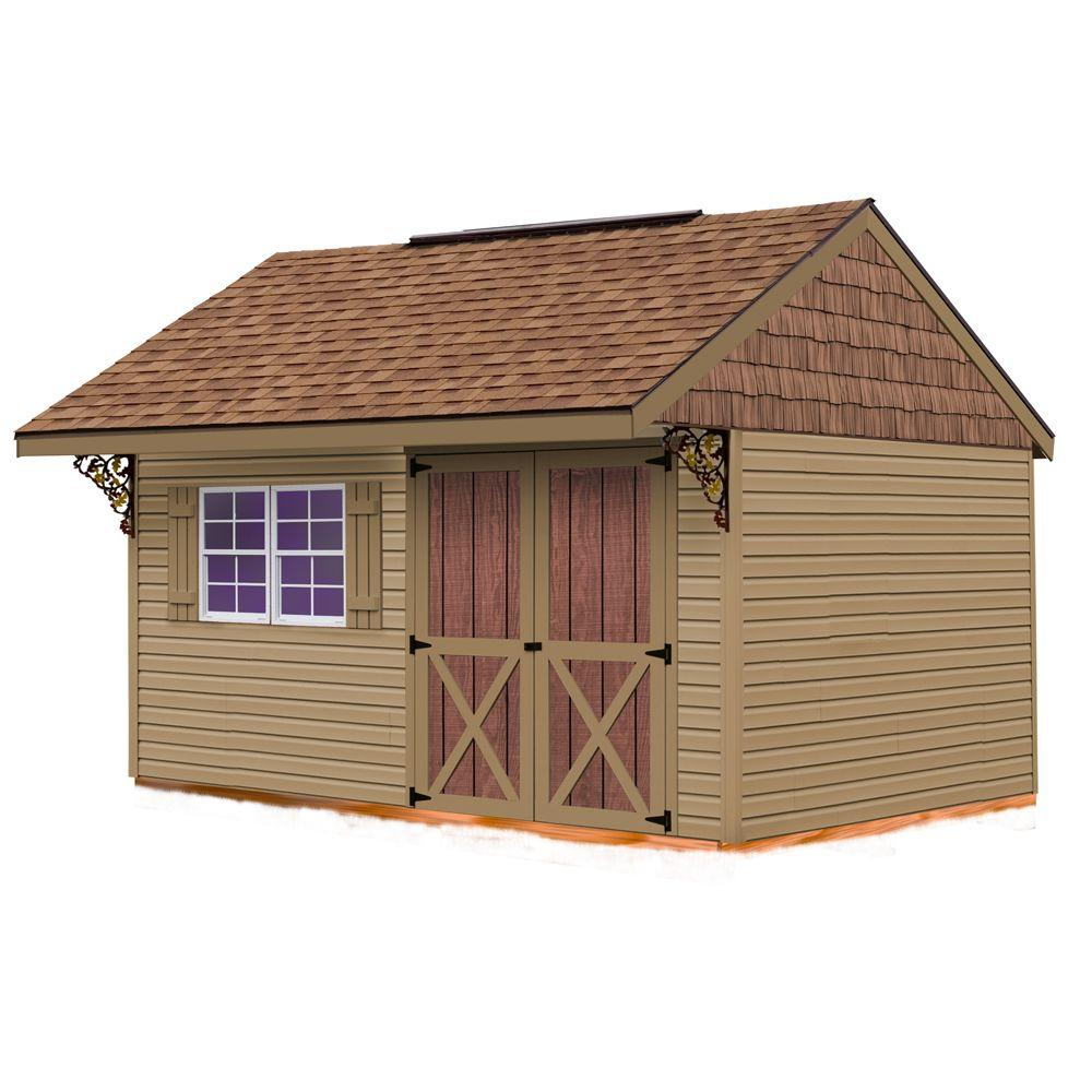 Best Barns Clarion 10 ft. x 14 ft. Prepped for Vinyl Storage Shed Kit