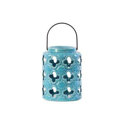Turquoise Candle Ceramic Decorative Lantern