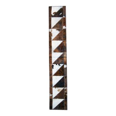 Natural Stitch Natural and Chocolate 1 ft. x 6 ft. Cowhide Runner