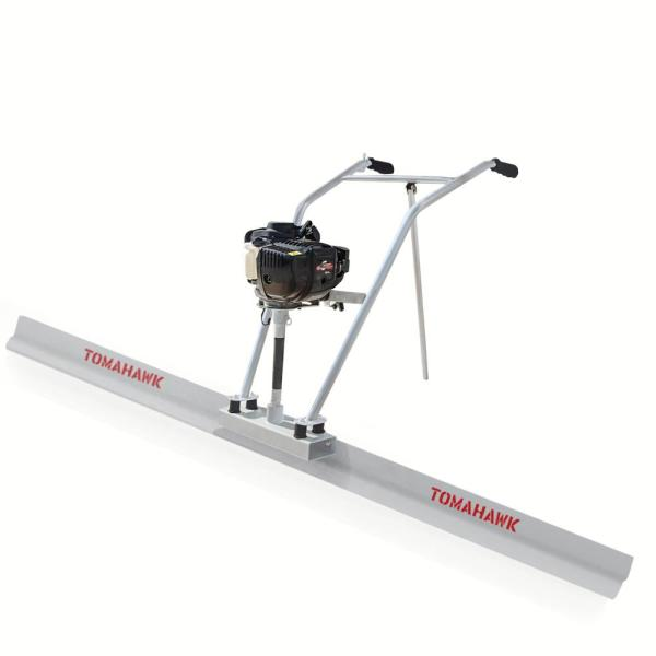 Power Screed Concrete Finishing Float 8 ft. Blade Board and 37.7 cc Gas Vibrating Motor Tool
