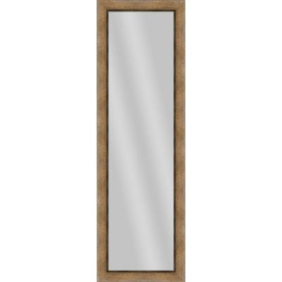 Large Rectangle Dark Champagne Art Deco Mirror (52.25 in. H x 16.25 in. W)