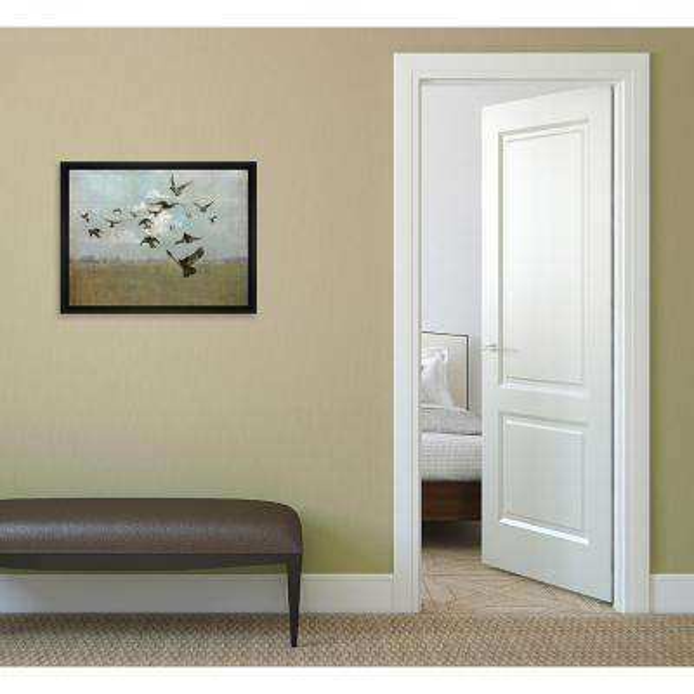11.75 in. x 13.75 in.''Majestic Flight'' Framed Canvas Wall Art