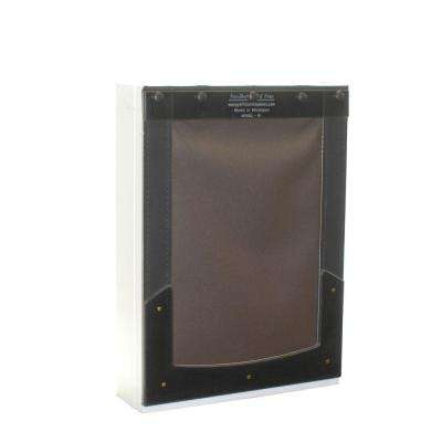 11 in. L x 17 in. W Wall Mount Pet Door