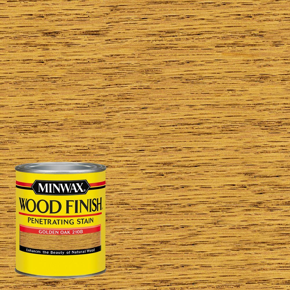 1 qt. Wood Finish Golden Oak Oil Based Interior Stain