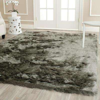 Paris Shag Titanium 8 ft. x 10 ft. Area Rug