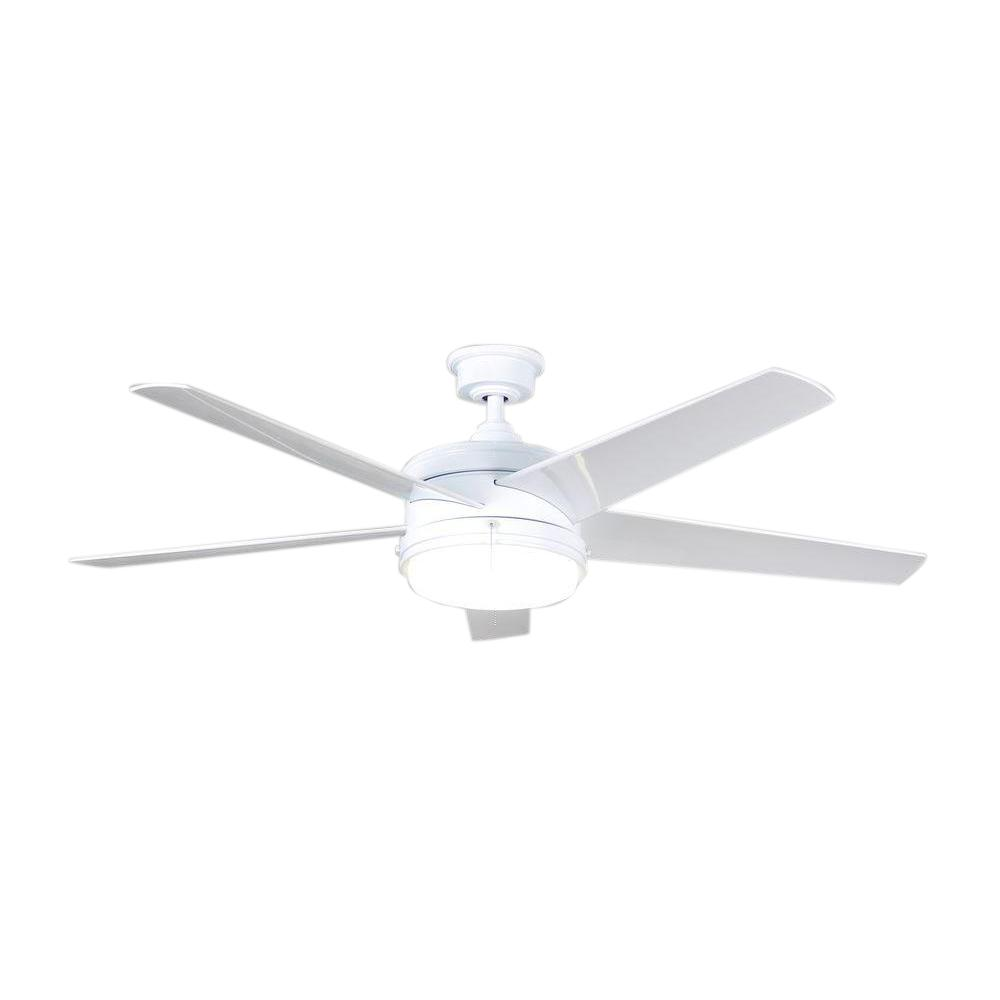 Home Decorators Collection Portwood 60 In Integrated Led Indoor Outdoor White Ceiling Fan With