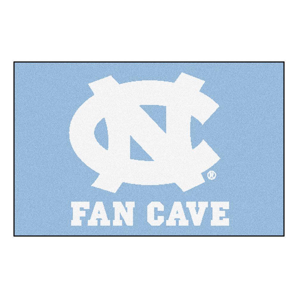 NCAA - University of North Carolina - Chapel Hill Blue Fancave 2 ft. x 3 ft. Indoor Area Rug