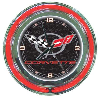 14 in. Black Corvette C5 Neon Wall Clock