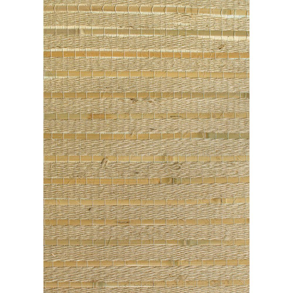 The Wallpaper Company 72 sq. ft. Beige Grasscloth Wallpaper-DISCONTINUED