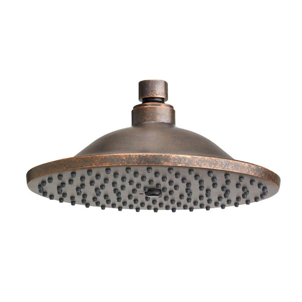 1-Spray 10 in. Rain Showerhead in Oil Rubbed Bronze