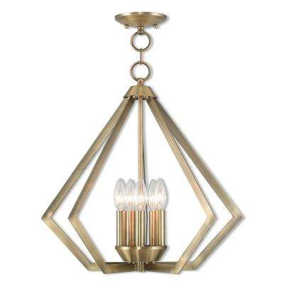 Prism 5-Light Antique Brass Chandelier