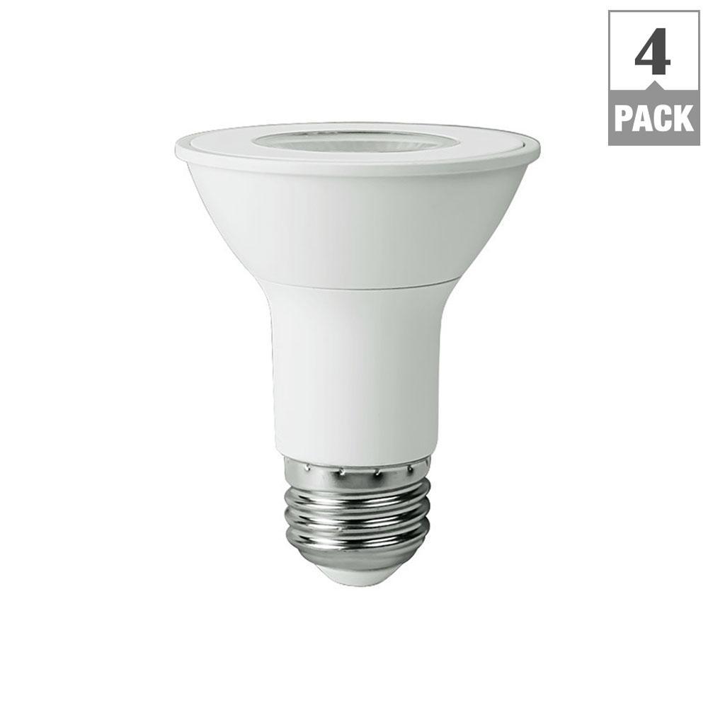 50-Watt Equivalent PAR20 LED Flood Light Bulb, Bright White (4-Pack)