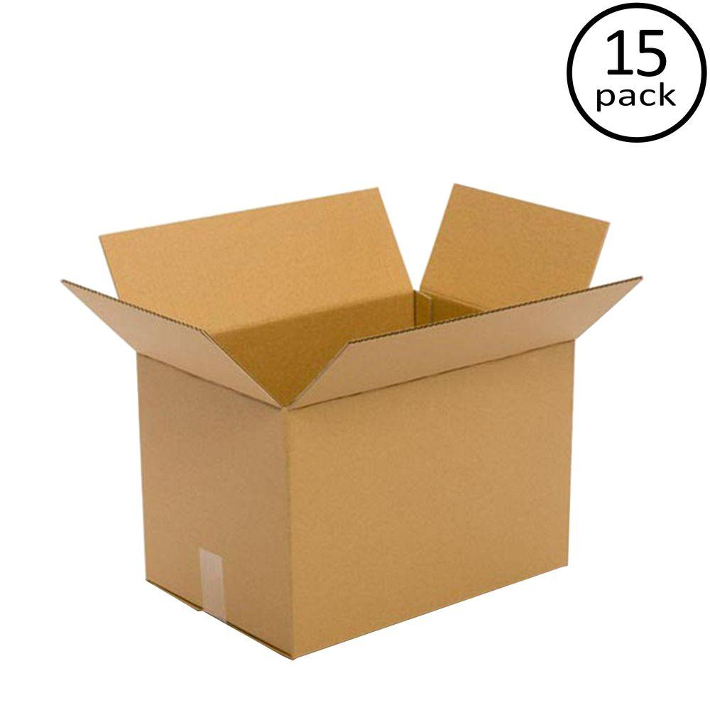 Plain Brown Box 18 in. x 12 in. x 12 in. 48 ECT 15 Moving Box Bundle