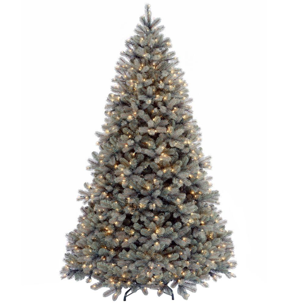 7-1/2 ft. Feel Real Downswept Douglas Blue Fir Hinged Artificial Christmas