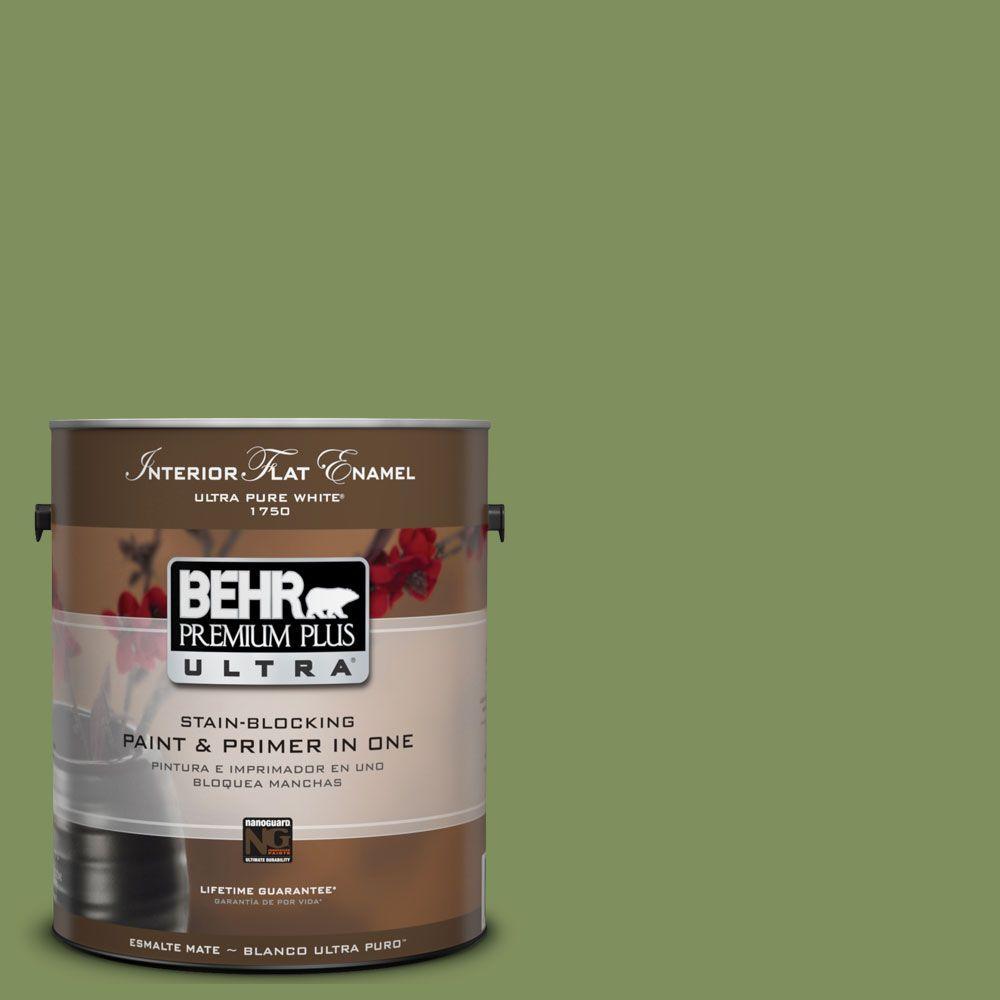 BEHR Premium Plus Ultra 1-Gal. #UL210-17 Green Energy Interior Flat Enamel Paint