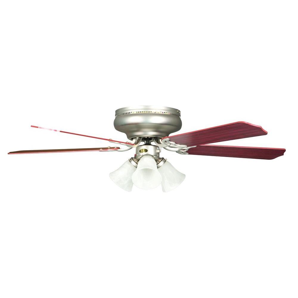 Rosemount Series 52 in. Indoor Satin Nickel Ceiling Fan