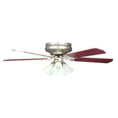 Rosemount Series 52 in. Indoor Satin Nickel Ceiling Fan