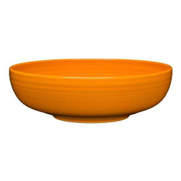 10.5 in. 96 oz. Butterscotch Ceramic Extra Large Bistro Serving Bowl