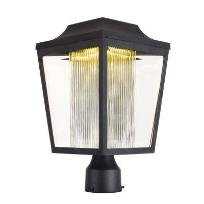 Villa 9 in. Wide 1-Light Outdoor Anthracite Post Light