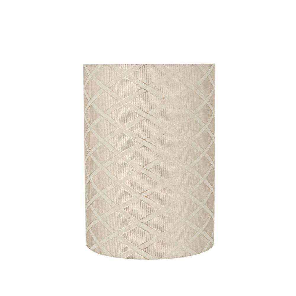 Aspen Creative Corporation 8 In X 11 Off White Drum Cylinder Lamp Shade