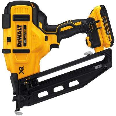 20-Volt Max 16-Gauge Cordless Angled Finish Nailer Kit