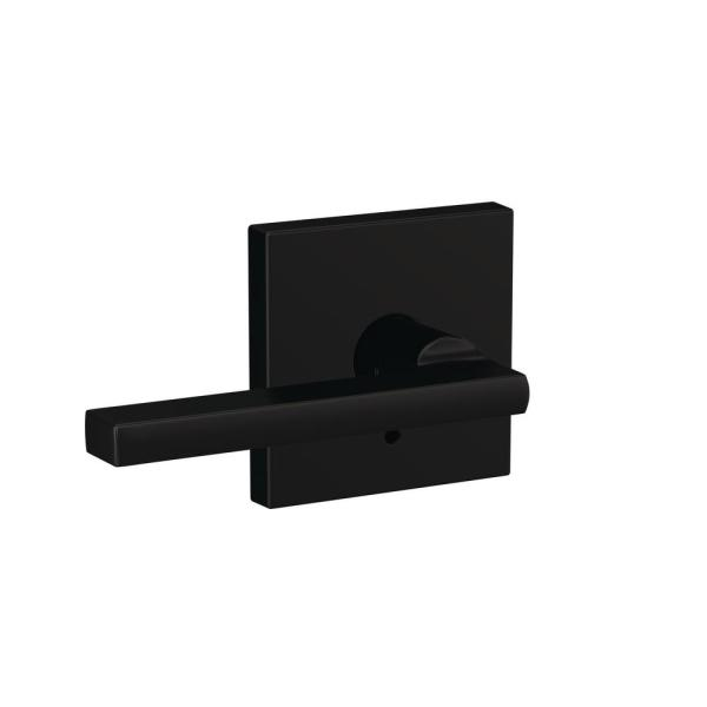 Custom Latitude Matte Black Collins Trim Combined Interior Door Lever