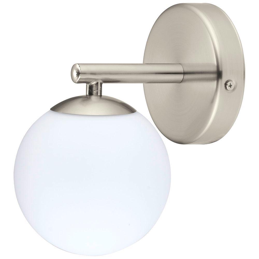 Eglo ferrol 1 light satin nickel wall light 201445a the home depot eglo ferrol 1 light satin nickel wall light aloadofball Images