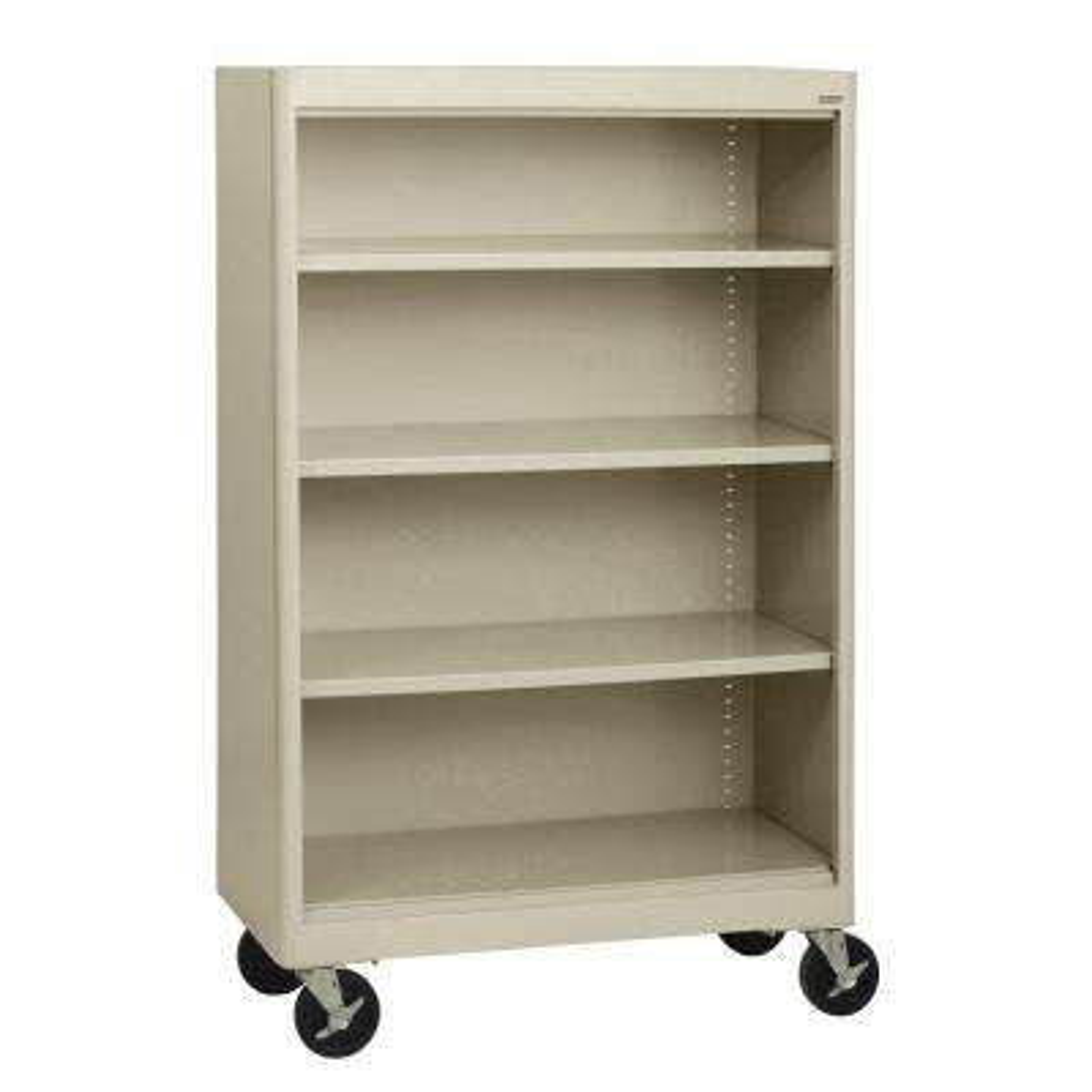 Radius Edge Putty Mobile Steel Bookcase