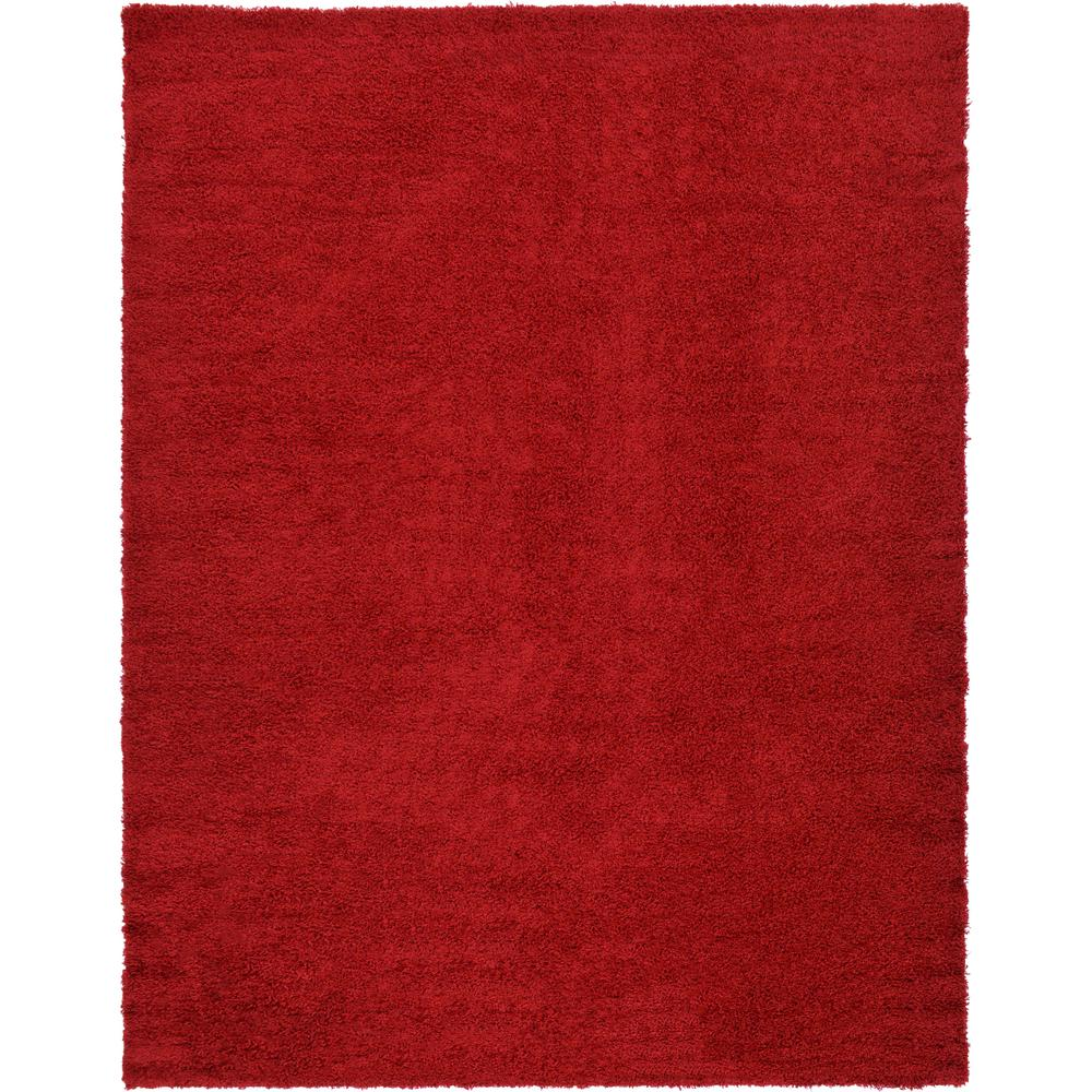 Solid Shag Cherry Red 10 ft. x 13 ft. Area Rug