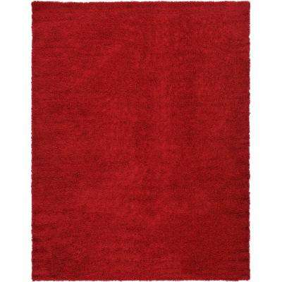 Solid Cherry Red 10 Ft X 13 Area Rug