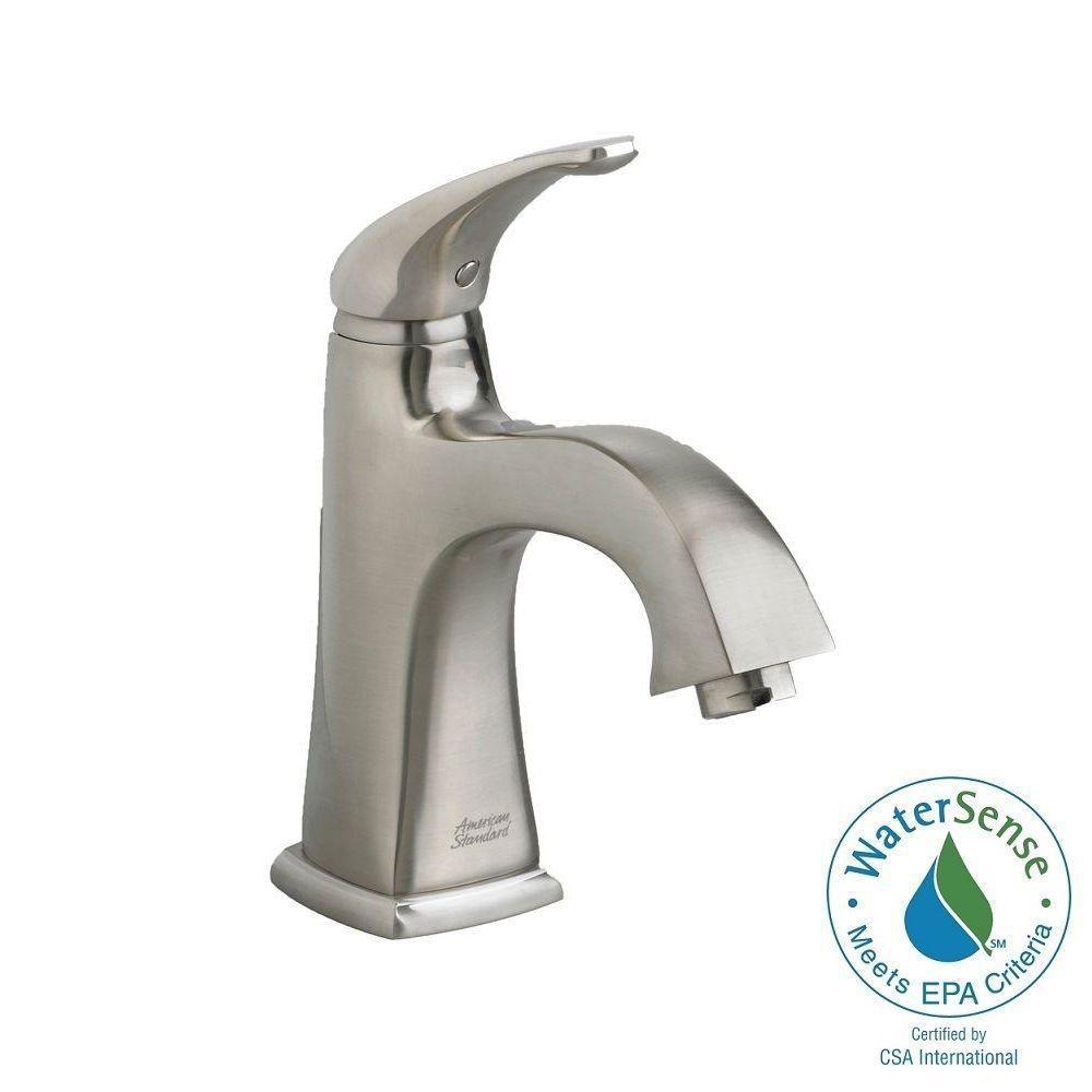 Copeland Monoblock Single Hole Single Handle Bathroom Faucet in Satin Nickel