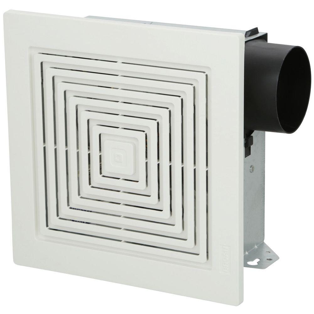 Broan 70 cfm wall ceiling mount bathroom exhaust fan 671 the home depot for Exterior mounted exhaust fans for bathroom