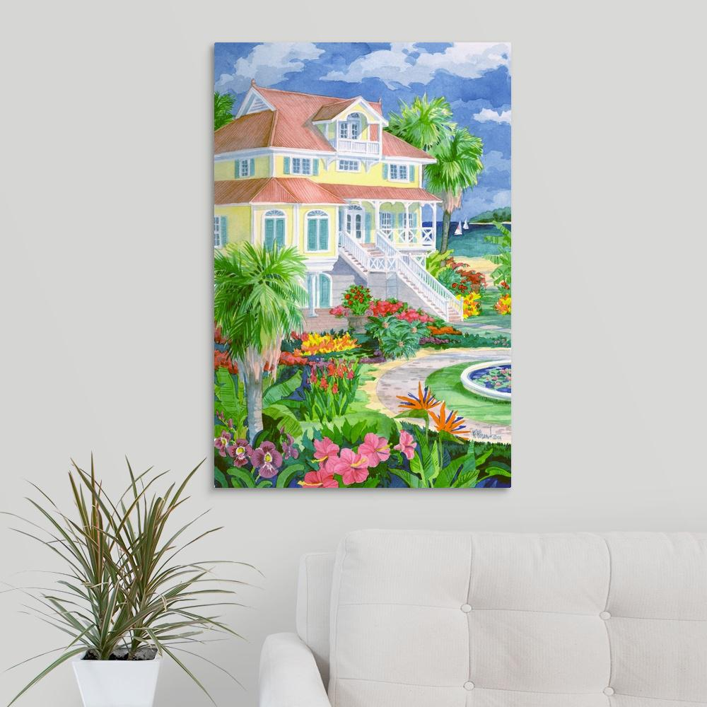 """Plantation Home"" by Paul Brent Canvas Wall Art"