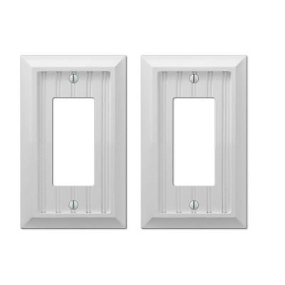Cottage 1 Gang Rocker Composite Wall Plate - White (2-Pack)