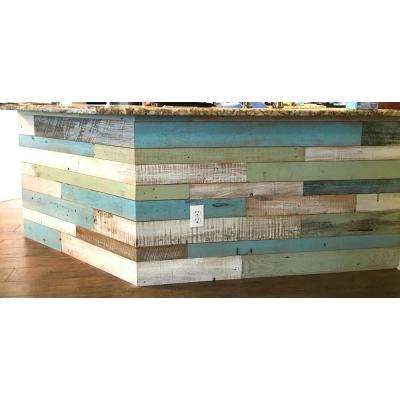 3/8 in  x 4 ft  Random Width 3 in -5 in  Coastal Collection Reclaimed  Planks Decorative Wall Panel (10 59 sq  ft /Pack)