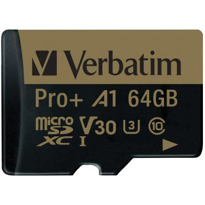 64 GB Pro Plus 666X MicroSDXC Memory Card with Adapter
