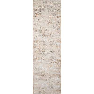 Juliet Beige 2 ft. x 8 ft. Indoor Runner Rug