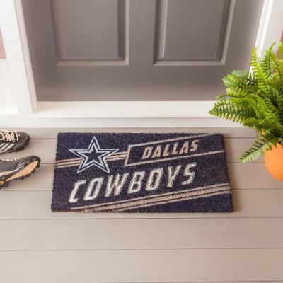 16 in. x 28 in. Dallas Cowboys NFL Coir Punch Mat