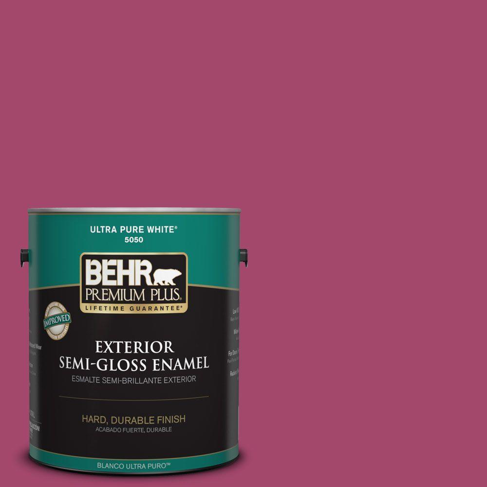1-gal. #HDC-SM14-1 Fuschia Flair Semi-Gloss Enamel Exterior Paint
